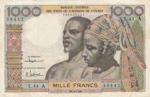 BCEAO 1000 Francs fleuve 1961 - Série L.44