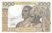 BCEAO 1000 Francs fleuve 1965 - Série F.184