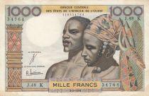 BCEAO 1000 Francs fleuve 1965 - Série J.48