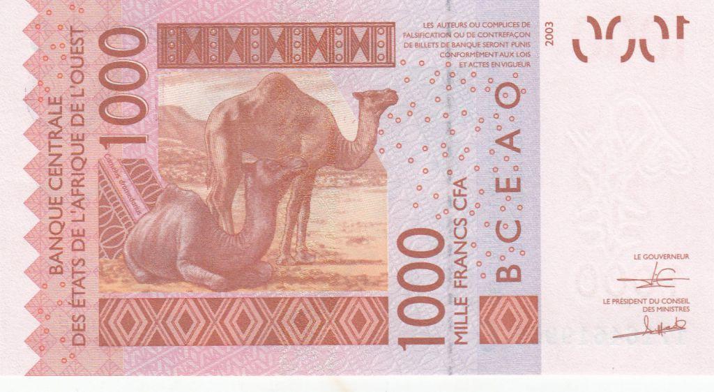 BCEAO 1000 Francs Masque - Dromadaires - Burkina Faso 2017