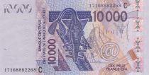 BCEAO 10000 Francs Masque - Oiseaux - Burkina Faso 2017