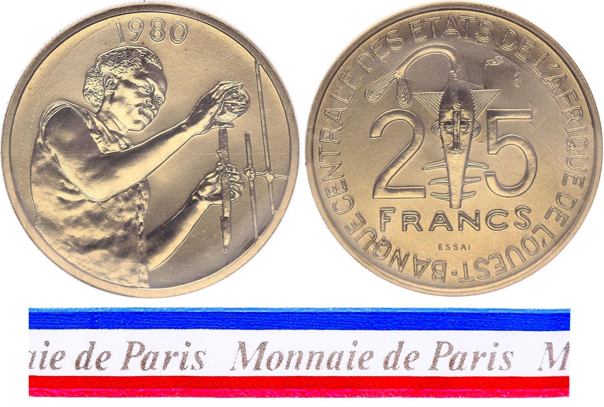 BCEAO 25 Francs - 1980 - Essai
