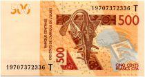 BCEAO 500 Francs Masque - Hippopotames - 2019 T Togo