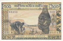 BCEAO 500 Francs masque type 1959 - Côte d\'Ivoire - Série O.61