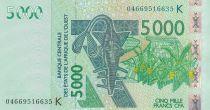 BCEAO 5000 Francs 2004 - Antilopes - Sénégal