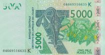 BCEAO 5000 Francs 2004 - Antilopes - Sénégal