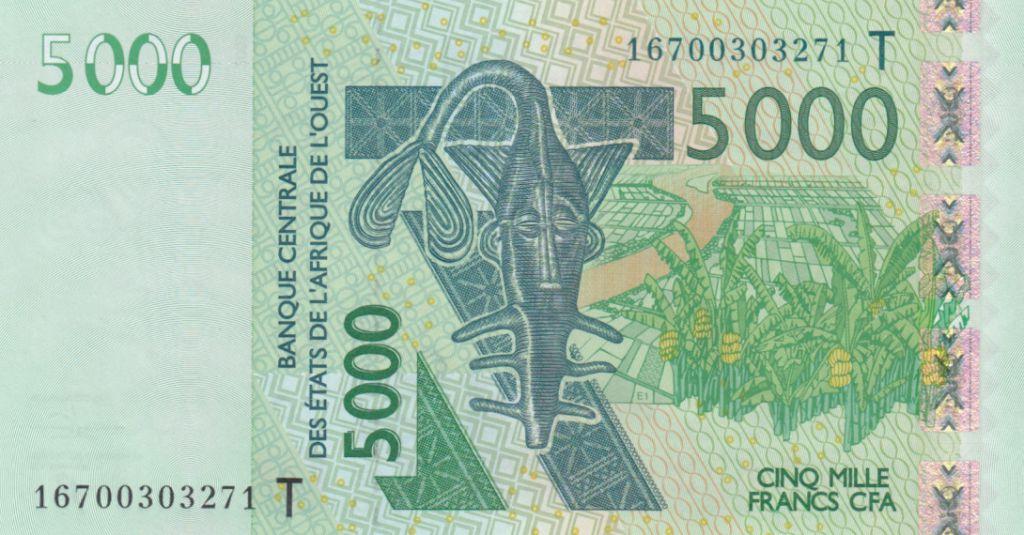 BCEAO 5000 Francs Masque - Antilopes - Togo 2018