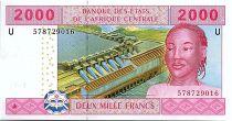 BEAC 2000 Francs 2002 (2017) -Barrge et Mine - Cameroun - Neuf - P.208Uf
