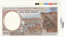 BEAC 500 Francs 1994 - E = Cameroun - Fauté app. supl.