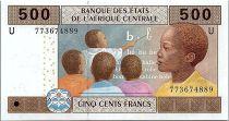 BEAC 500 Francs 2002 (2017) - Enfant- Cameroun - Neuf -P.206Ug