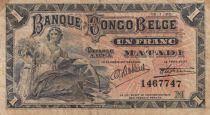 Belgian Congo 1 Franc Matadi - 1920 - P.3B - Fine