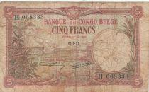 Belgian Congo 5 Francs 21-01-1929 - Fine - P.8e
