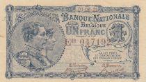 Bélgica 1 Franc 01-06-1922 - Albert & Elizabeth