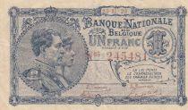 Bélgica 1 Franc 29-11-1920 - Albert & Elizabeth