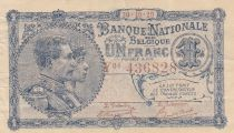 Bélgica 1 Franc 30-10-1920 - Albert & Elizabeth