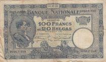 Bélgica 100 Francs 01-07-1930 - Albert & Elizabeth