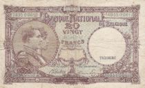 Bélgica 20 Francs 15-01-1945 - Albert & Elizabeth