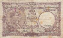 Bélgica 20 Francs 24-10-1941 - Albert & Elizabeth