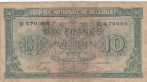 Belgio 10 Francs 1943 - Green - Serial SI