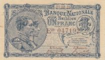 Belgique 1 Franc 01-06-1922 - Albert & Elizabeth