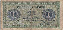 Belgique 1 Franc 01-08-1946 - Vert, Armée belge