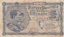 Belgique 1 Franc 23-03-1920 - Albert & Elizabeth
