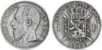 Belgique 1 Franc Leopold II - Armoiries -1886