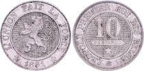 Belgique 10 Centimes, Léopold I - Lion - 1861
