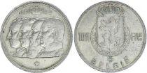 Belgique 100 Francs - 4 Rois - 1948 - Argent - TTB - Texte néerlandais
