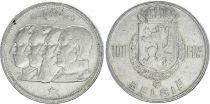 Belgique 100 Francs - 4 Rois - 1949 - Argent - TTB - Texte néerlandais