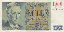Belgique 1000 Francs Albert I - 1951 - TTB