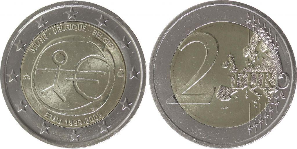 Belgique 2 Euro 10 ans de l\'UEM  - 2009