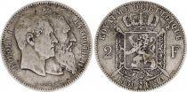 Belgique 2 Francs Léopold II - 1880
