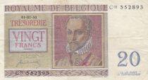 Belgique 20 Francs 01-07-1950 - R. De Lassus, P. De Monte