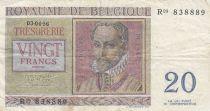 Belgique 20 Francs 03-04-1956 - R. De Lassus, P. De Monte - Série R09