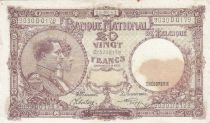 Belgique 20 Francs 05-09-1941 - Albert & Elizabeth