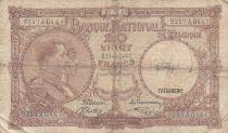 Belgique 20 Francs 07-10-1941 - Albert & Elizabeth