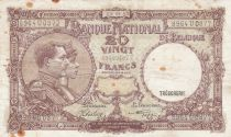 Belgique 20 Francs 09-09-1941 - Albert & Elizabeth