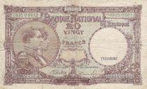 Belgique 20 Francs 15-01-1945 - Albert & Elizabeth