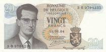 Belgique 20 Francs 15-06-1964 - Baudoin Ier, Atomium  2ème ex