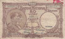 Belgique 20 Francs 25-04-1945 - Albert & Elizabeth