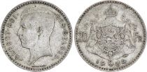 Belgique 20 Francs Albert I - 1934 - Argent - Légende en Français