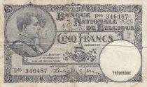Belgique 5 Francs 05-05-1938 - Albert & Elizabeth