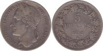 Belgique 5 Francs Leopold I - 1848