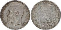 Belgique 5 Francs Léopold II - Argent - 1865-1878