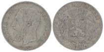 Belgique 5 Francs Léopold II - Armoiries - 1867