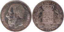 Belgique 5 Francs Léopold II - Armoiries - 1871 Argent