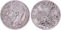 Belgique 50 Centimes, Léopold II - Armories- 1886