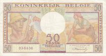 Belgique 50 Francs 03-04-1956 - Paysans, fruits