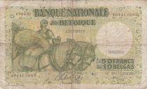 Belgique 50 Francs 07-01-1943 - Charrette à chevaux, fruits, bateau
